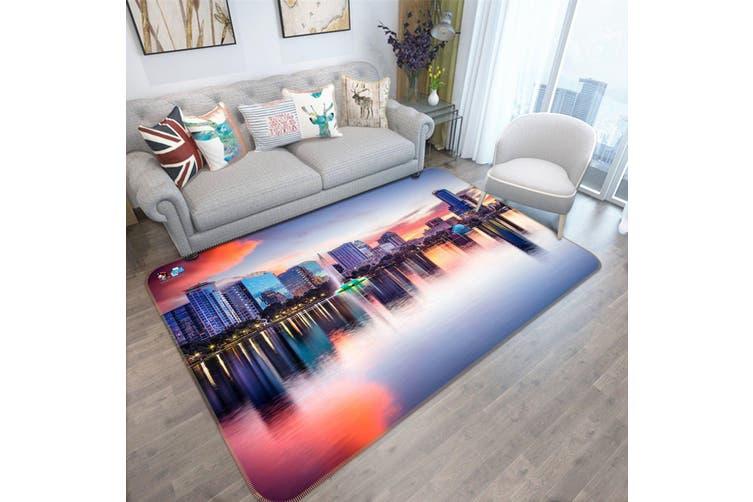 "3D City Reflection 449 Non Slip Rug Mat, 40cmx60cm (15.7""x23.6"")"