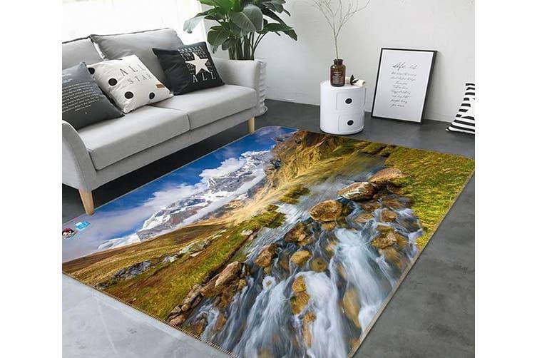 """3D Snow Mountain Lake 370 Non Slip Rug Mat, 160cmx240cm (63""""x94.5"""")"""
