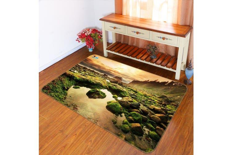 "3D Sunshine Moss Stone 366 Non Slip Rug Mat, 60cmx90cm (23.6""x35.4"")"