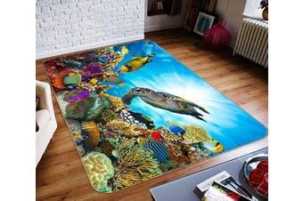 "3D Turtle Coral 362 Non Slip Rug Mat, 160cmx240cm (63""x94.5"")"