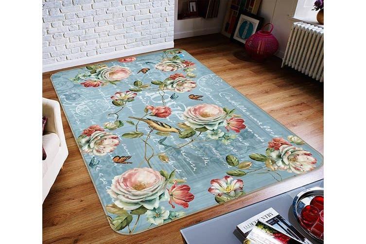 """3D Flower Letter 355 Non Slip Rug Mat, 140cmx200cm (55.1""""x78.8"""")"""