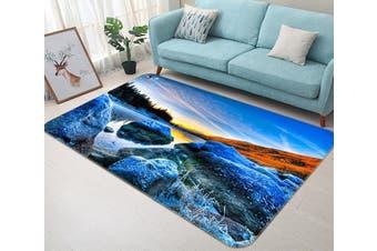"""3D Sunset Lake 354 Non Slip Rug Mat, 140cmx200cm (55.1""""x78.8"""")"""