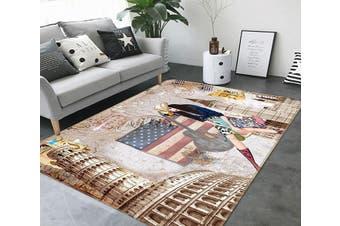 """3D National Flag 353 Non Slip Rug Mat, 160cmx240cm (63""""x94.5"""")"""