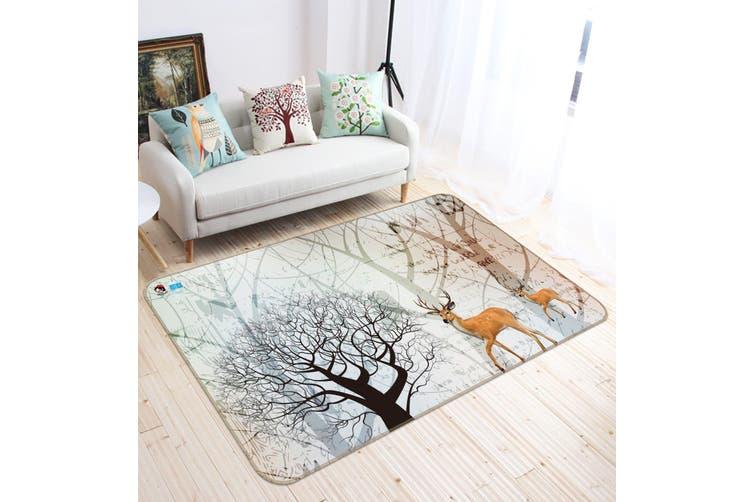 "3D Dead Tree Deer 349 Non Slip Rug Mat, 60cmx90cm (23.6""x35.4"")"