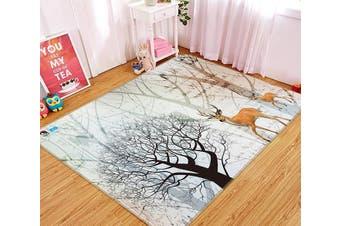 "3D Dead Tree Deer 349 Non Slip Rug Mat, 80cmx120cm (31.4""x47.24"")"