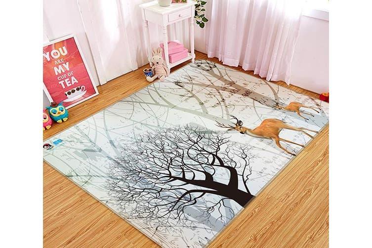 "3D Dead Tree Deer 349 Non Slip Rug Mat, 140cmx200cm (55.1""x78.8"")"