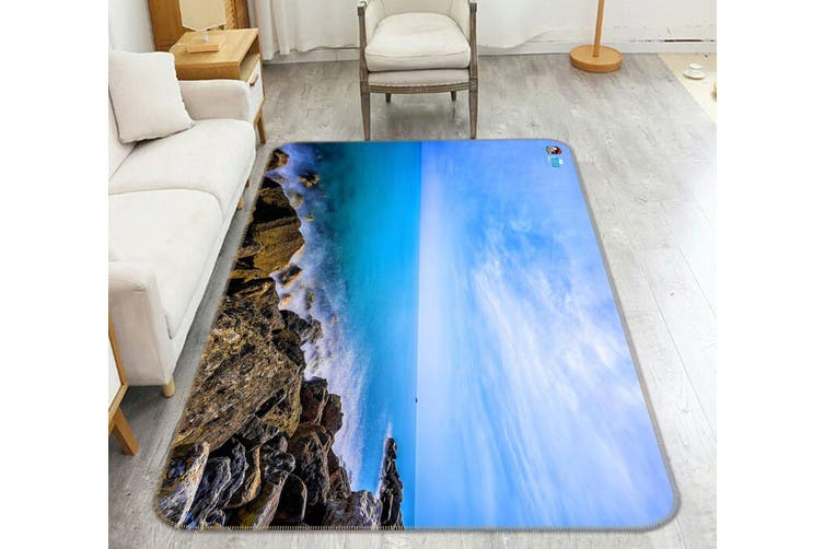 """3D Sea Stones 338 Non Slip Rug Mat, 120cmx180cm (47.2""""x70.9"""")"""