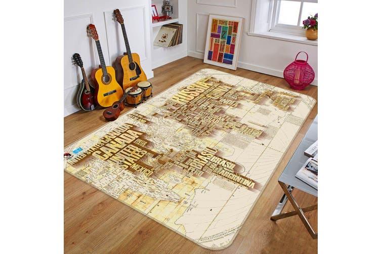 """3D Letter Map 337 Non Slip Rug Mat, 40cmx60cm (15.7""""x23.6"""")"""