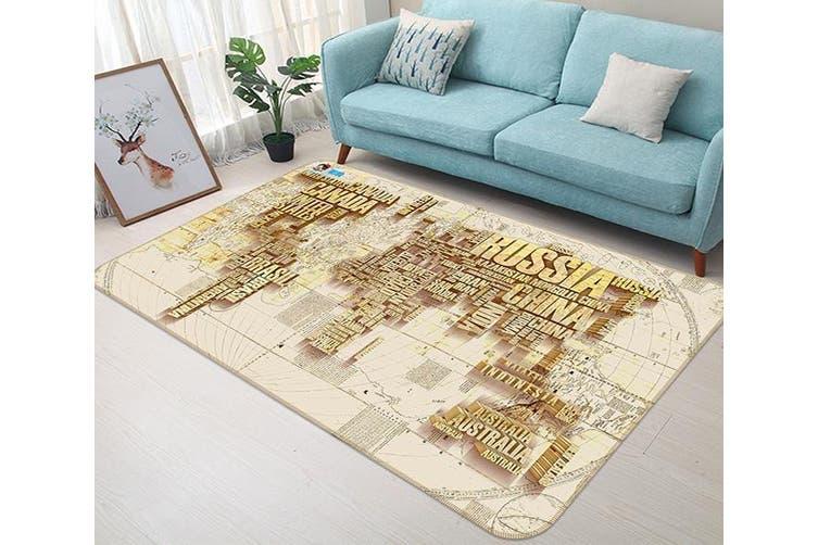 """3D Letter Map 337 Non Slip Rug Mat, 140cmx200cm (55.1""""x78.8"""")"""