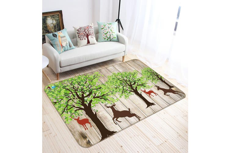 "3D Tree Elk 334 Non Slip Rug Mat, 80cmx120cm (31.4""x47.24"")"