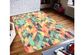 "3D Four-Corner Color 308 Non Slip Rug Mat, 80cmx120cm (31.4""x47.24"")"