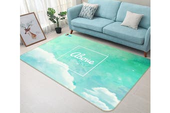"3D Cloud English 305 Non Slip Rug Mat, 60cmx90cm (23.6""x35.4"")"