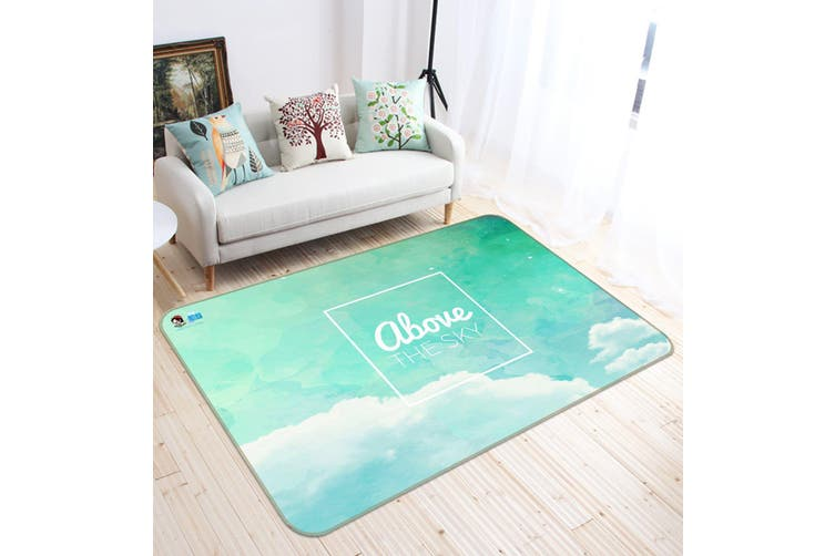 "3D Cloud English 305 Non Slip Rug Mat, 140cmx200cm (55.1""x78.8"")"