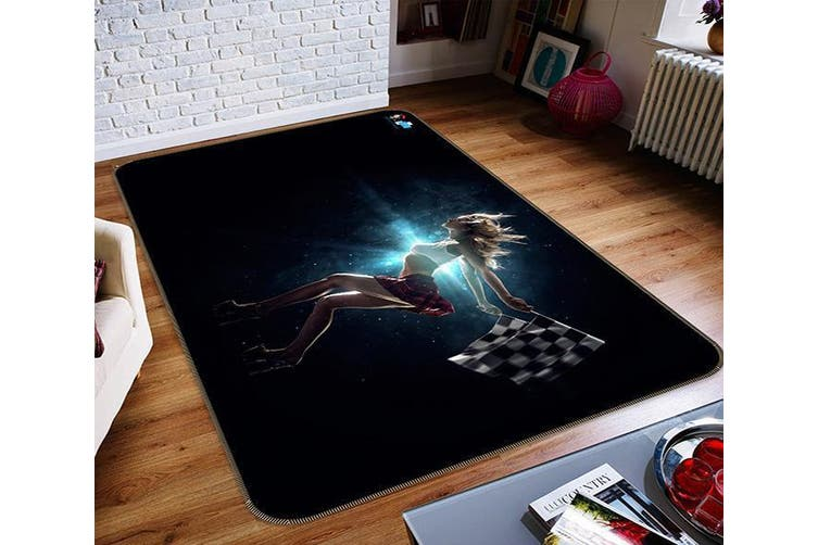 "3D Woman Flying 303 Non Slip Rug Mat, 160cmx240cm (63""x94.5"")"