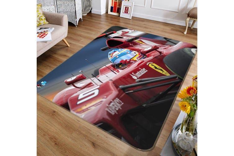 """3D Race Car Driver 302 Non Slip Rug Mat, 160cmx240cm (63""""x94.5"""")"""
