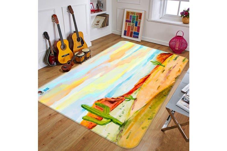 """3D Oil Painting Cactus 301 Non Slip Rug Mat, 40cmx60cm (15.7""""x23.6"""")"""