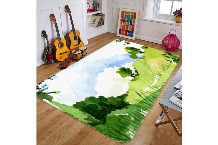 """3D Painting Hillside 300 Non Slip Rug Mat, 40cmx60cm (15.7""""x23.6"""")"""