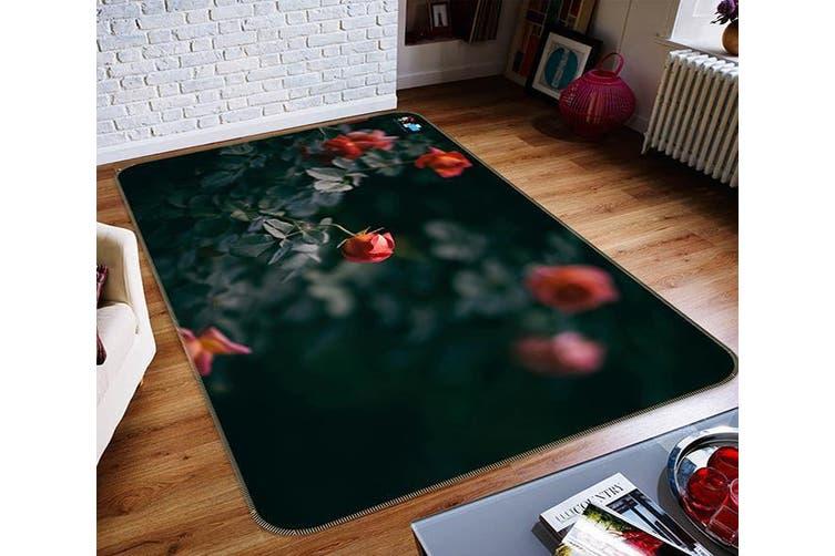 "3D Flower Bud Growtht 299 Non Slip Rug Mat, 60cmx90cm (23.6""x35.4"")"