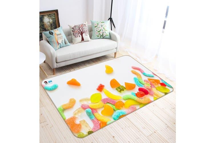 "3D Colorful Candy 194 Non Slip Rug Mat, 120cmx180cm (47.2""x70.9"")"