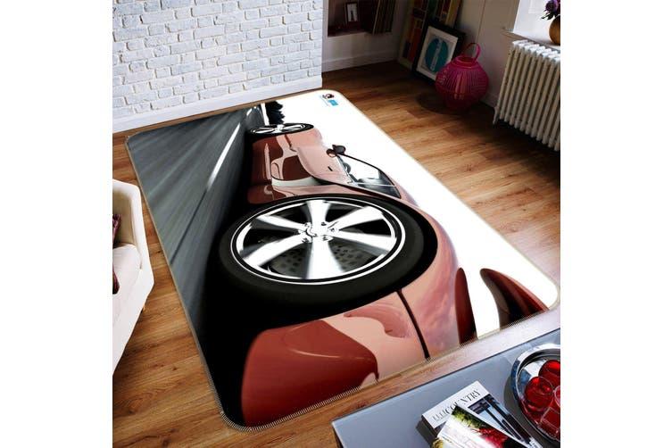 """3D Red Car 192 Non Slip Rug Mat, 120cmx180cm (47.2""""x70.9"""")"""