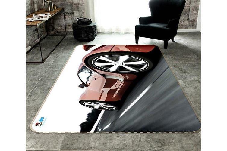 """3D Red Car 192 Non Slip Rug Mat, 140cmx200cm (55.1""""x78.8"""")"""