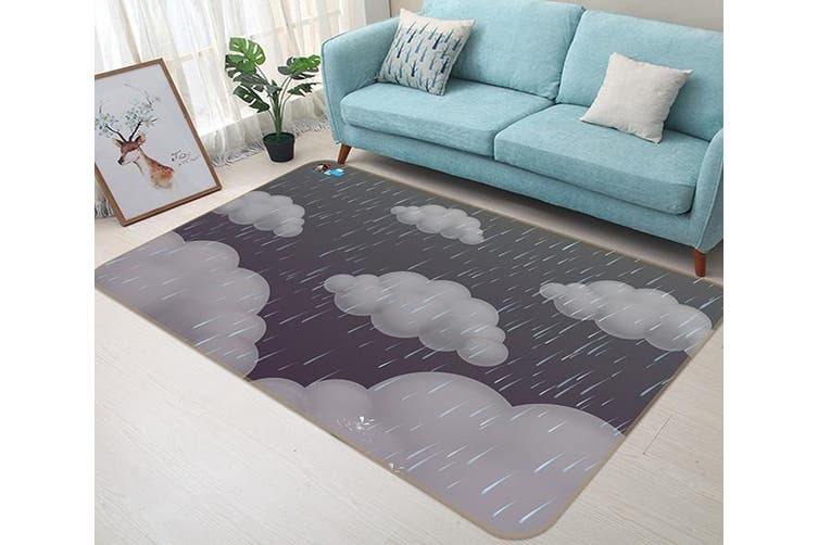 "3D Dark Clouds 190 Non Slip Rug Mat, 40cmx60cm (15.7""x23.6"")"