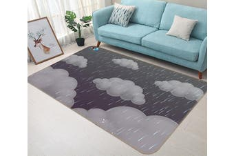 "3D Dark Clouds 190 Non Slip Rug Mat, 60cmx90cm (23.6""x35.4"")"