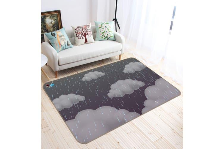 "3D Dark Clouds 190 Non Slip Rug Mat, 80cmx120cm (31.4""x47.24"")"