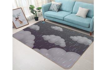 "3D Dark Clouds 190 Non Slip Rug Mat, 140cmx200cm (55.1""x78.8"")"