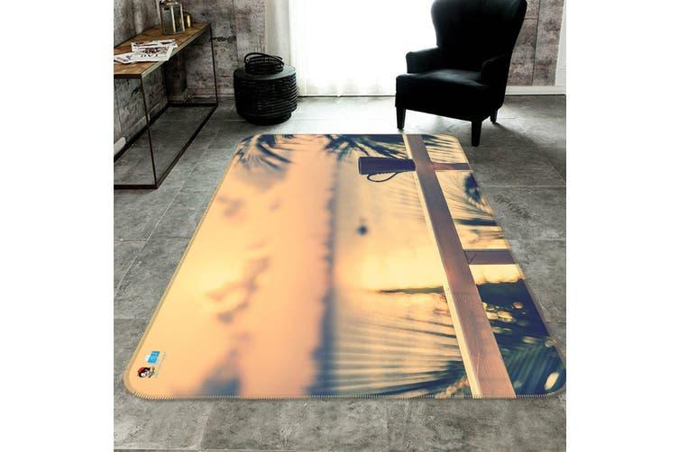 """3D Dusk Cup 185 Non Slip Rug Mat, 140cmx200cm (55.1""""x78.8"""")"""