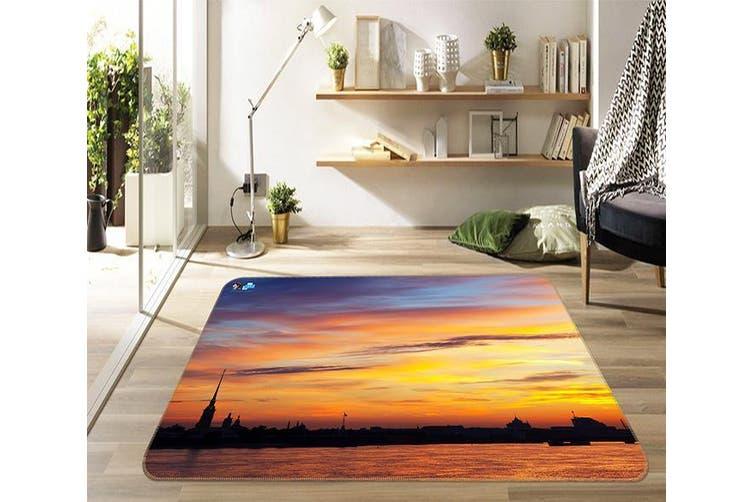 "3D Sunset River 169 Non Slip Rug Mat, 160cmx240cm (63""x94.5"")"