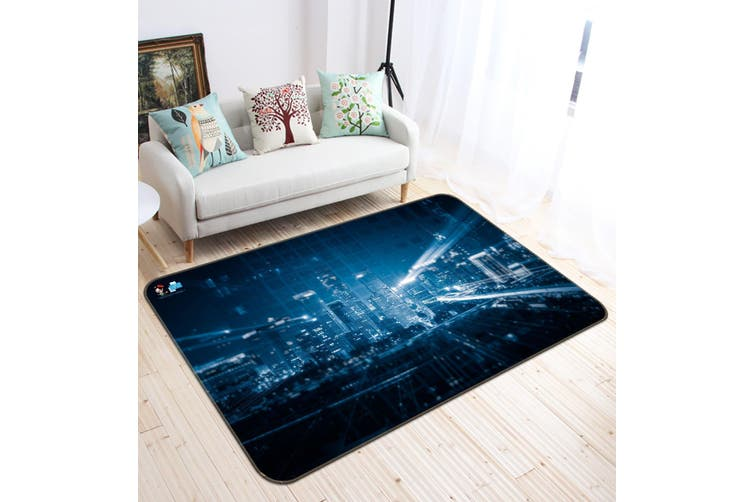 "3D Building Night 161 Non Slip Rug Mat, 80cmx120cm (31.4""x47.24"")"