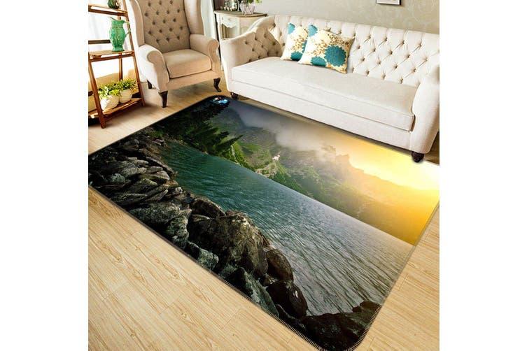 """3D Sunshine Lake 160 Non Slip Rug Mat, 140cmx200cm (55.1""""x78.8"""")"""