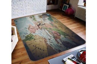 """3D Map Villain 158 Non Slip Rug Mat, 120cmx180cm (47.2""""x70.9"""")"""