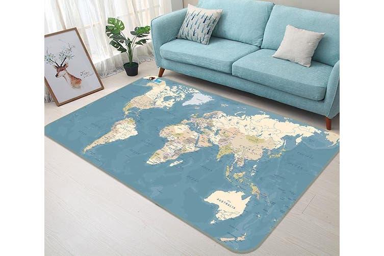 """3D Blue Map 155 Non Slip Rug Mat, 160cmx240cm (63""""x94.5"""")"""