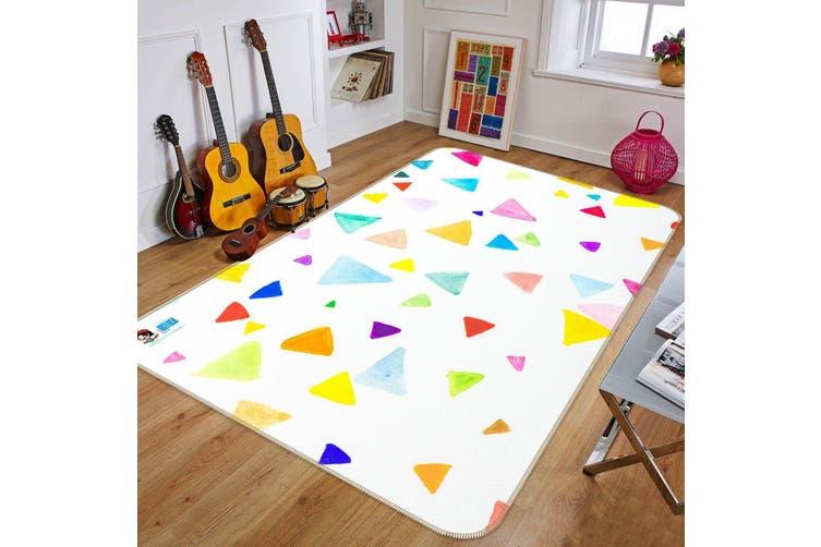 "3D Colored Triangle 154 Non Slip Rug Mat, 60cmx90cm (23.6""x35.4"")"