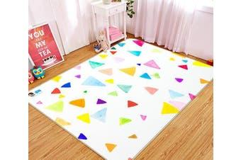 "3D Colored Triangle 154 Non Slip Rug Mat, 80cmx120cm (31.4""x47.24"")"