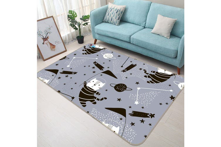 "3D Astronaut Cat 132 Non Slip Rug Mat, 120cmx180cm (47.2""x70.9"")"