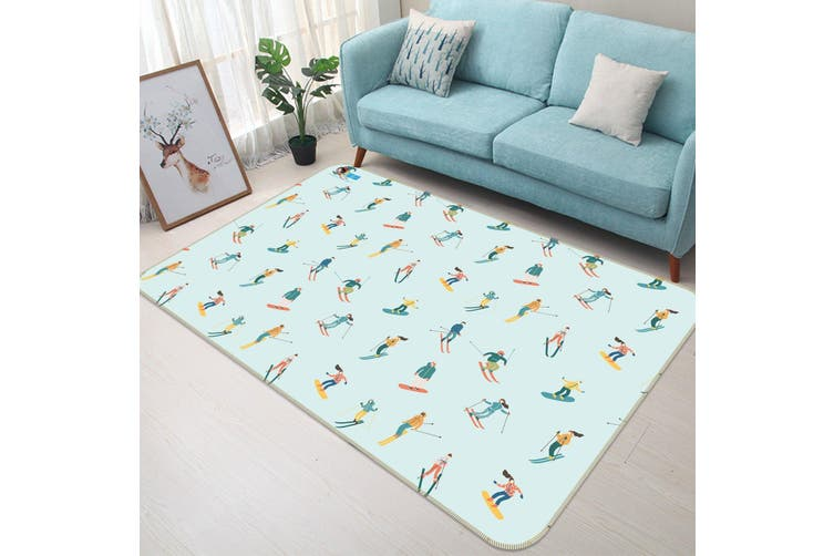 "3D Cartoon Skating 131 Non Slip Rug Mat, 120cmx180cm (47.2""x70.9"")"