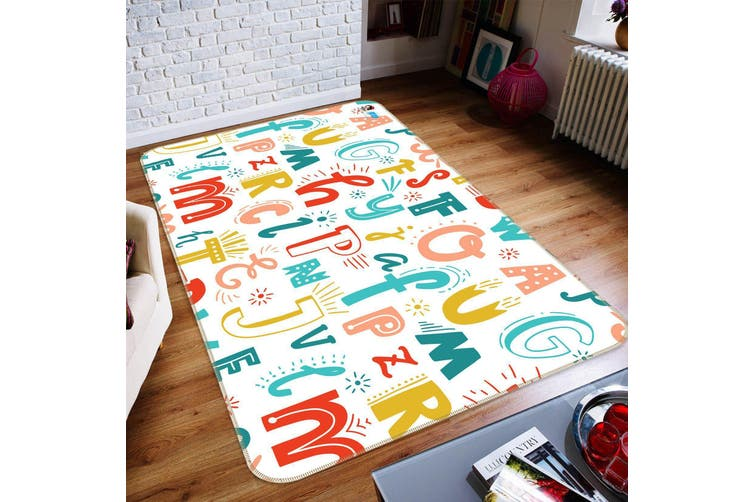 "3D Colored Letters 129 Non Slip Rug Mat, 40cmx60cm (15.7""x23.6"")"
