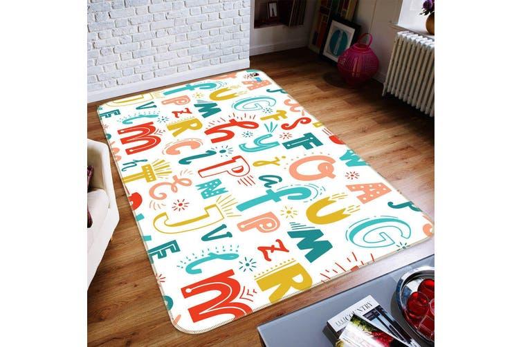 "3D Colored Letters 129 Non Slip Rug Mat, 120cmx180cm (47.2""x70.9"")"