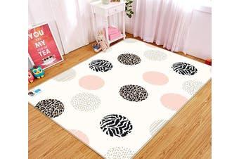 "3D Circle Pattern 127 Non Slip Rug Mat, 60cmx90cm (23.6""x35.4"")"