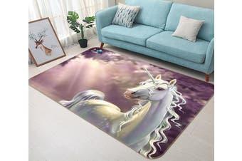 "3D Beautiful Unicorn 126 Non Slip Rug Mat, 140cmx200cm (55.1""x78.8"")"
