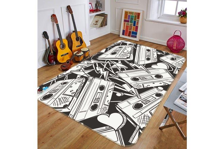 "3D Doodle Tape 122 Non Slip Rug Mat, 140cmx200cm (55.1""x78.8"")"