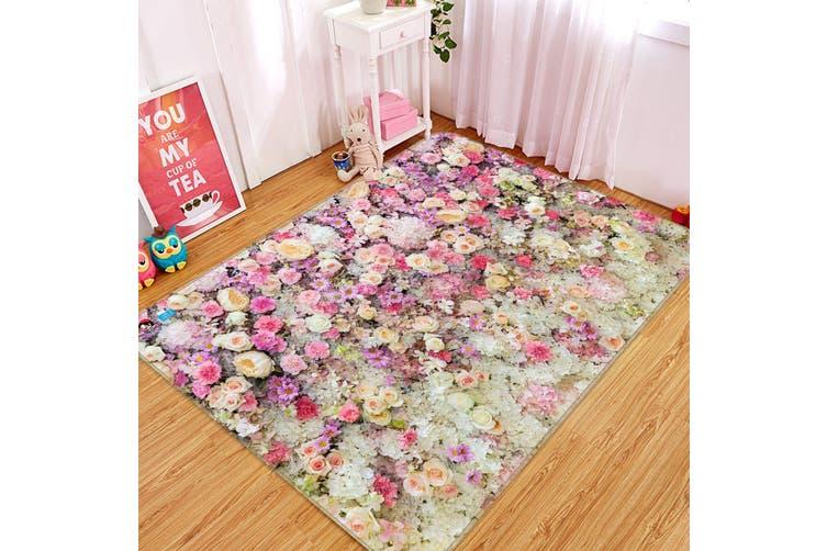 """3D Flowers Wall 173 Non Slip Rug Mat, 40cmx60cm (15.7""""x23.6"""")"""
