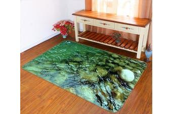 """3D River Pebbles 152 Non Slip Rug Mat, 60cmx90cm (23.6""""x35.4"""")"""