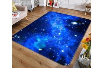 """3D Shining Stars 150 Non Slip Rug Mat, 140cmx200cm (55.1""""x78.8"""")"""