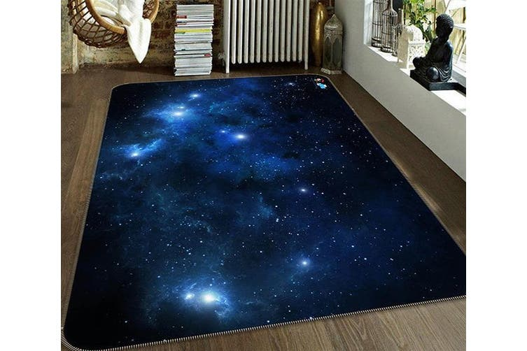 """3D Twinkle Stars 148 Non Slip Rug Mat, 140cmx200cm (55.1""""x78.8"""")"""