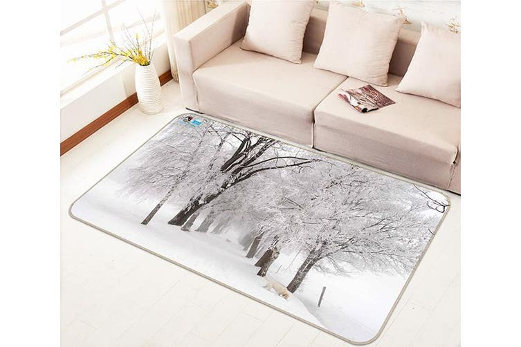 """3D Frozen Trees 143 Non Slip Rug Mat, 80cmx120cm (31.4""""x47.24"""")"""