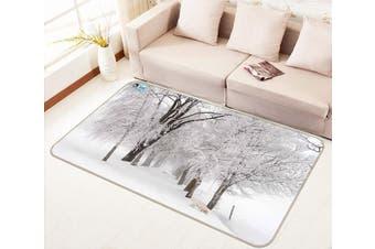 """3D Frozen Trees 143 Non Slip Rug Mat, 120cmx180cm (47.2""""x70.9"""")"""